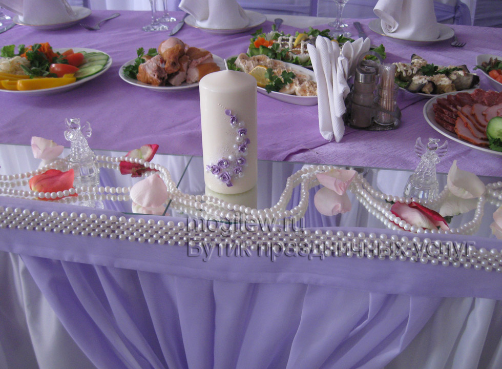 Декор на свадебный стол гостей своими руками 94
